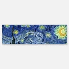 Van Gogh wraparound Bumper Bumper Sticker