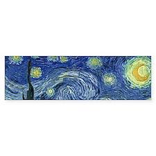 Van Gogh wraparound Bumper Sticker