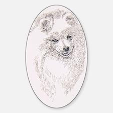 American_Eskimo_Dog_KlineSq Decal