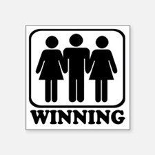 "Winning 3some Square Sticker 3"" x 3"""