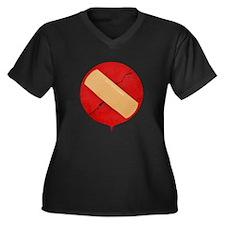 JapanBandaid Women's Plus Size Dark V-Neck T-Shirt