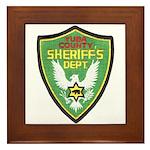 Yuba Sheriff Framed Tile