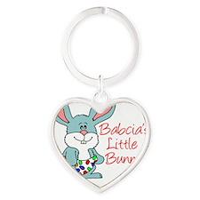 Babcias Little Bunny Heart Keychain
