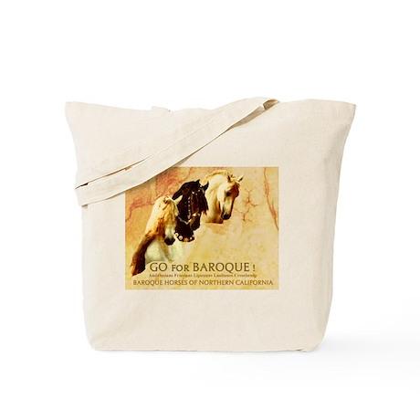Baroque Horses Antique Tote Bag
