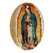 Virgen GuadalupePopZazzlePC Oval Ornament