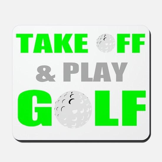 funny golf tee Mousepad