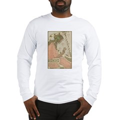 Art Nouveau Harpist Long Sleeve T-Shirt