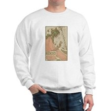 Art Nouveau Harpist Sweatshirt