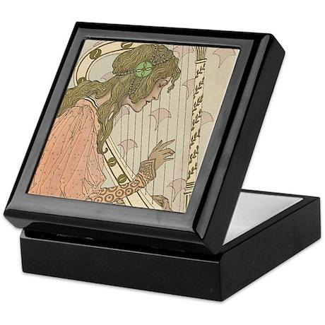 Art Nouveau Harpist Art Keepsake Box