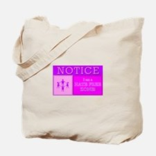 Hate Free Zone Tote Bag