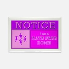 Hate Free Zone Rectangle Magnet