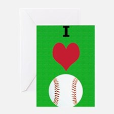I Love Baseball Itouch2 Itouch4 Ipod Greeting Card