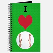 I Love Baseball Itouch2 Itouch4 Ipod Case Journal