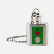 I Love Baseball Itouch2 Itouch4 Ipo Flask Necklace