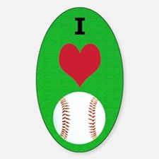 I Love Baseball Itouch2 Itouch4 Ipo Decal