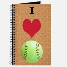 I Love Softball Itouch2 Itouch4 Ipod Case Journal