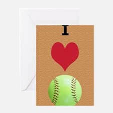 I Love Softball Itouch2 Itouch4 Ipod Greeting Card