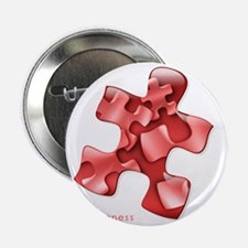 """puzzle-v2-red-onblk2 2.25"""" Button"""