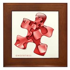 puzzle-v2-red-onblk2 Framed Tile
