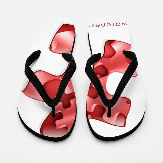 puzzle-v2-red-onblk2 Flip Flops