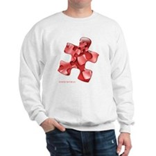 puzzle-v2-red-onblk2 Sweatshirt