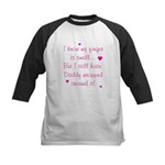 Daddy Wrapped Around Finger - Kids Baseball Jersey