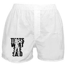 TWSS black Boxer Shorts