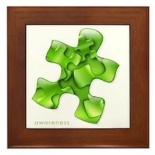 puzzle-v2-green-onblk2 Framed Tile