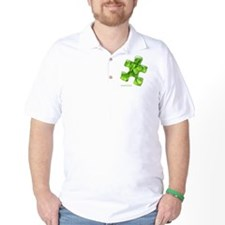 puzzle-v2-green-onblk2 T-Shirt