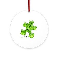 puzzle-v2-green Round Ornament