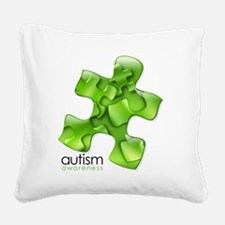 puzzle-v2-green Square Canvas Pillow
