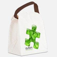 puzzle-v2-green Canvas Lunch Bag