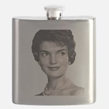 jackie close up t-shirt Flask