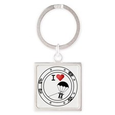 Iheart-parasail Square Keychain