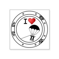 "Iheart-parasail Square Sticker 3"" x 3"""
