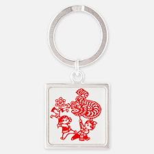 kids_dragon Square Keychain