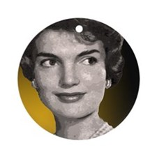 Jackie O clock close up Round Ornament
