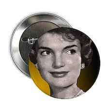 "Jackie O clock close up 2.25"" Button"