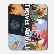 TravelAddictPoster Mousepad