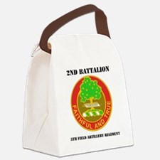 2-5 F A RGT WITH TEXT Canvas Lunch Bag