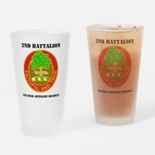 2-5 F A RGT WITH TEXT Drinking Glass