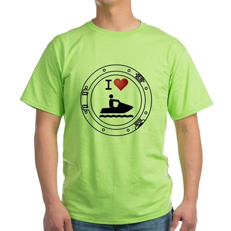 Iheart-jetski Green T-Shirt
