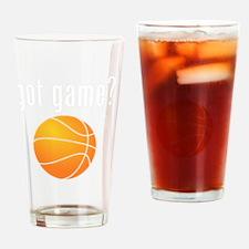 got game white Drinking Glass