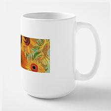 Van Gogh Sunflowers Wraparound Large Mug