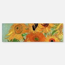 Van Gogh Sunflowers Wraparound Bumper Bumper Sticker