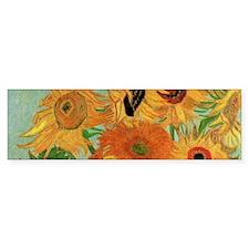 Van Gogh Sunflowers Wraparound Bumper Sticker