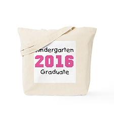 Pink Kindergarten Grad 2014 Tote Bag
