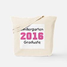 Pink Kindergarten Grad 2016 Tote Bag