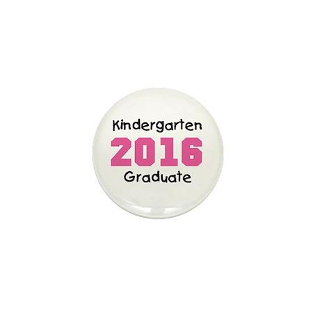 Pink Kindergarten Grad 2016 Mini Button (10 pack)