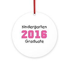 Pink Kindergarten Grad 2014 Ornament (Round)